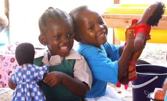 Nursery children at Miche Bora