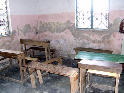 School in slum area