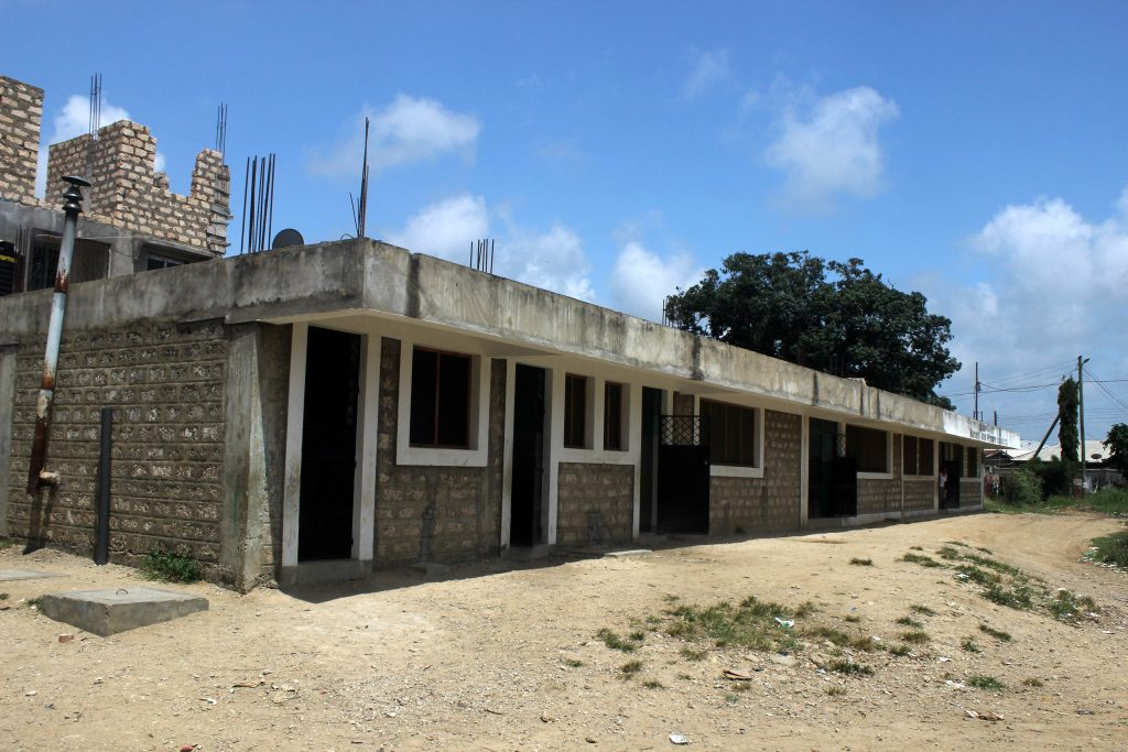 ground floor of school for poor children Mombasa
