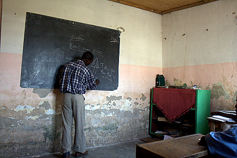 Bernard in first school Mgongeni