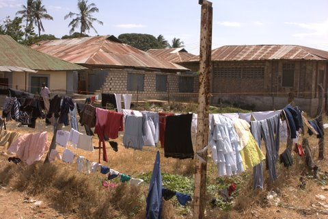 No-where to hang washing