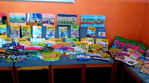Deepings Rotary bought books for Mustard Seed