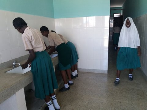 toilets for poor children in Mombasa school